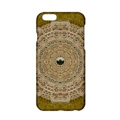 Golden Forest Silver Tree In Wood Mandala Apple Iphone 6/6s Hardshell Case by pepitasart