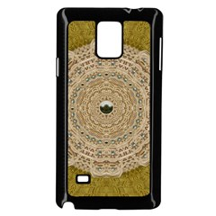 Golden Forest Silver Tree In Wood Mandala Samsung Galaxy Note 4 Case (black) by pepitasart