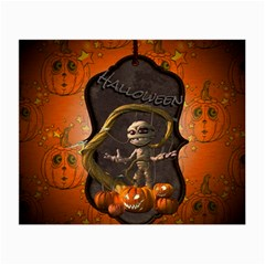 Halloween, Funny Mummy With Pumpkins Small Glasses Cloth by FantasyWorld7