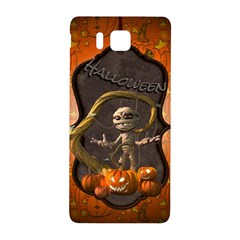 Halloween, Funny Mummy With Pumpkins Samsung Galaxy Alpha Hardshell Back Case by FantasyWorld7