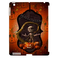 Halloween, Funny Mummy With Pumpkins Apple Ipad 3/4 Hardshell Case (compatible With Smart Cover) by FantasyWorld7