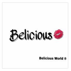 Belicious Logo Large Satin Scarf (square) by beliciousworld