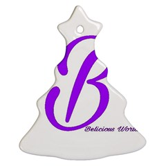 Belicious World  b  Purple Christmas Tree Ornament (two Sides) by beliciousworld
