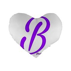 Belicious World  b  Purple Standard 16  Premium Heart Shape Cushions by beliciousworld