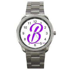 Belicious World  b  Blue Sport Metal Watch by beliciousworld
