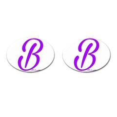 Belicious World  b  Blue Cufflinks (oval) by beliciousworld