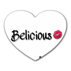 Belicious World Logo Heart Mousepads by beliciousworld