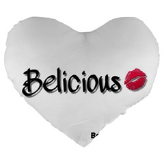 Belicious World Logo Large 19  Premium Flano Heart Shape Cushions by beliciousworld