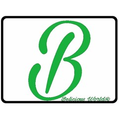Belicious World  b  In Green Double Sided Fleece Blanket (large)  by beliciousworld