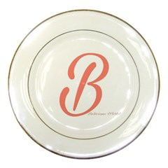 Belicious World  b  In Coral Porcelain Plates
