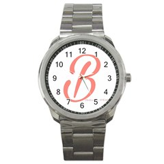 Belicious World  b  In Coral Sport Metal Watch by beliciousworld