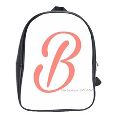 Belicious World  b  In Coral School Bags(large)  by beliciousworld