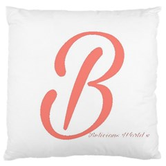 Belicious World  b  In Coral Large Flano Cushion Case (one Side) by beliciousworld