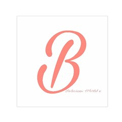 Belicious World  b  In Coral Small Satin Scarf (square) by beliciousworld