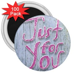 Letters Quotes Grunge Style Design 3  Magnets (100 Pack) by dflcprints