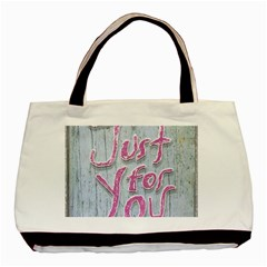 Letters Quotes Grunge Style Design Basic Tote Bag (two Sides) by dflcprints