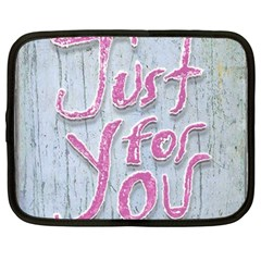 Letters Quotes Grunge Style Design Netbook Case (xl)  by dflcprints