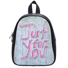 Letters Quotes Grunge Style Design School Bag (small) by dflcprints