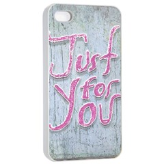 Letters Quotes Grunge Style Design Apple Iphone 4/4s Seamless Case (white) by dflcprints