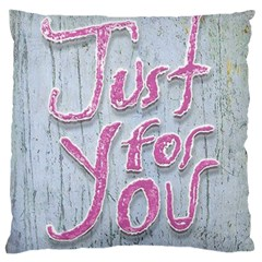 Letters Quotes Grunge Style Design Large Cushion Case (two Sides) by dflcprints