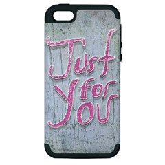 Letters Quotes Grunge Style Design Apple Iphone 5 Hardshell Case (pc+silicone) by dflcprints