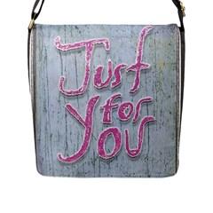 Letters Quotes Grunge Style Design Flap Messenger Bag (l)  by dflcprints