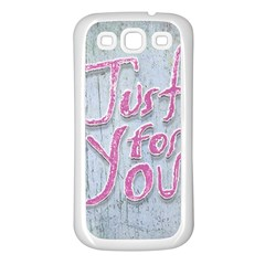 Letters Quotes Grunge Style Design Samsung Galaxy S3 Back Case (white) by dflcprints