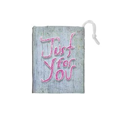 Letters Quotes Grunge Style Design Drawstring Pouches (small)  by dflcprints