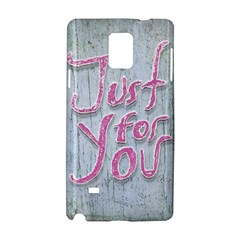Letters Quotes Grunge Style Design Samsung Galaxy Note 4 Hardshell Case by dflcprints