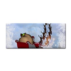 Christmas, Santa Claus With Reindeer Cosmetic Storage Cases by FantasyWorld7