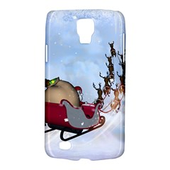 Christmas, Santa Claus With Reindeer Galaxy S4 Active by FantasyWorld7