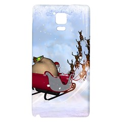 Christmas, Santa Claus With Reindeer Galaxy Note 4 Back Case by FantasyWorld7