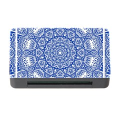 Blue Mandala Art Pattern Memory Card Reader With Cf by paulaoliveiradesign