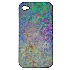 Colorful Pattern Blue And Purple Colormix Apple Iphone 4/4s Hardshell Case (pc+silicone)