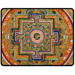 Asian Art Mandala Colorful Tibet Pattern Double Sided Fleece Blanket (medium)  by paulaoliveiradesign
