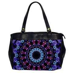 Kaleidoscope Mandala Purple Pattern Art Office Handbags by paulaoliveiradesign