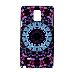 Kaleidoscope Mandala Purple Pattern Art Samsung Galaxy Note 4 Hardshell Case by paulaoliveiradesign