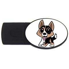 Cardigan Welsh Corgi Cartoon Usb Flash Drive Oval (2 Gb) by TailWags