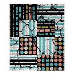 Distressed Pattern Shower Curtain 60  X 72  (medium)  by linceazul