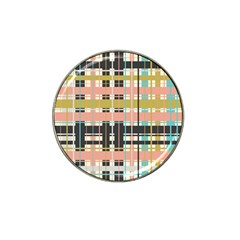 Plaid Pattern Hat Clip Ball Marker by linceazul