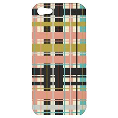 Plaid Pattern Apple Iphone 5 Hardshell Case by linceazul
