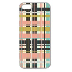 Plaid Pattern Apple Seamless Iphone 5 Case (clear) by linceazul