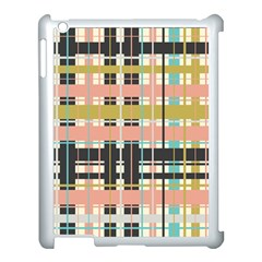 Plaid Pattern Apple Ipad 3/4 Case (white) by linceazul