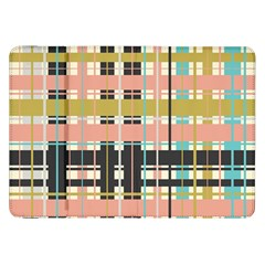 Plaid Pattern Samsung Galaxy Tab 8 9  P7300 Flip Case by linceazul