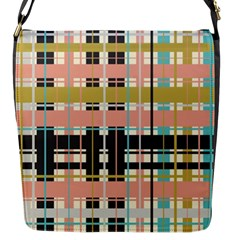 Plaid Pattern Flap Messenger Bag (s) by linceazul