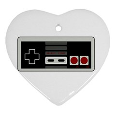Video Game Controller 80s Ornament (heart) by Valentinaart