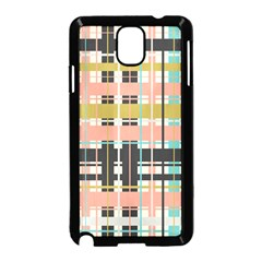 Plaid Pattern Samsung Galaxy Note 3 Neo Hardshell Case (black) by linceazul