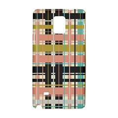 Plaid Pattern Samsung Galaxy Note 4 Hardshell Case by linceazul