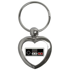 Video Game Controller 80s Key Chains (heart)  by Valentinaart