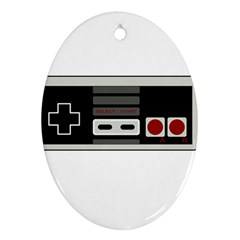 Video Game Controller 80s Oval Ornament (two Sides) by Valentinaart